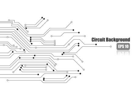 Vector: Circuito electrónico en el fondo blanco Ilustración de vector
