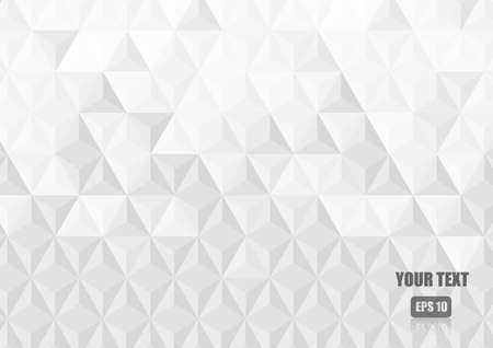 Vector : White abstract triangle texture background