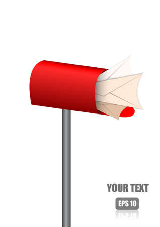 metal mailbox: Vector : Letters in red mail box