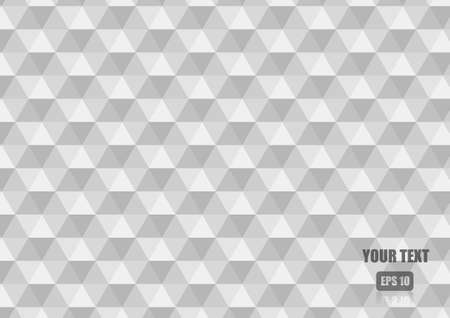 Vector : White abstract triangle and hexagon background Illustration
