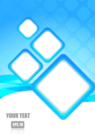 blue stripe: Abstract blue stripe and square with space for text Illustration