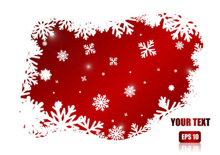 ice crystal: Vector : Ice crystal border on white background
