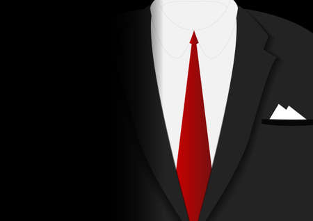 Vector : Business man with red tie and black suit