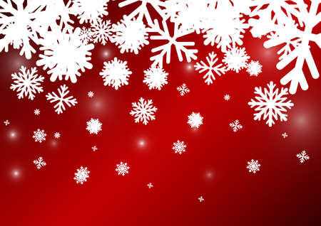crystal background: Vector : Ice crystal on red christmas background