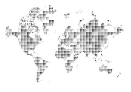 Squares world map illustration of world map made up of square vector world map on abstract triangle and square background vector gumiabroncs Image collections