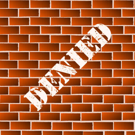 denied: Vector : Denied painted on brick wall