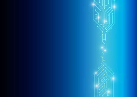 electronic background: Vector : Electronic circuit on blue background