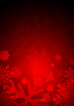 crystal background: Vector : Ice crystal on red background Illustration