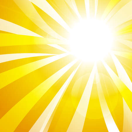 shine: Vector : Abstract yellow stripe sun shine
