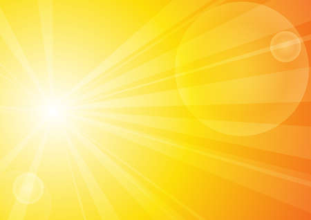 Vector : Abstract yellow stripe sun shine