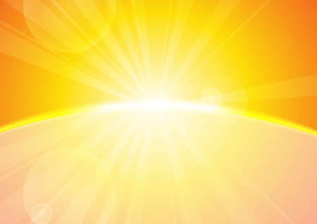 yellow shine: Vector : Abstract yellow stripe sun shine