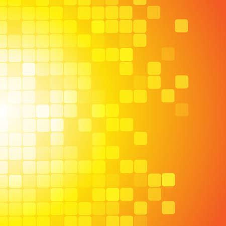 square shape: Vector : Abstract square on yellow orange background