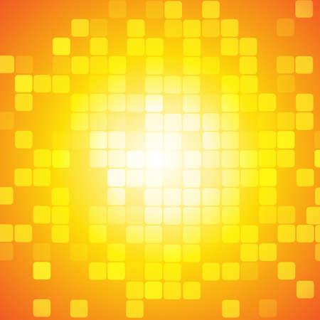 Vecteur: Abstract carré sur fond jaune orange
