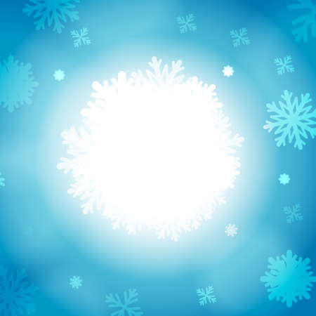 ice crystal: Vector : Ice crystal and bubble on blue winter background