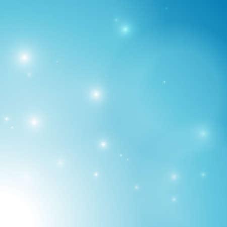 벡터 : 추상 안개와 얼음 차가운 파란색 배경