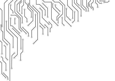 electronic circuit: Vector : Electronic circuit border on white background