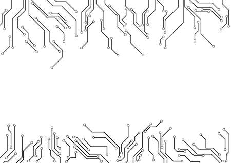 electronic background: Vector : Electronic circuit border on white background