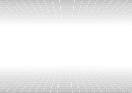 perspective grid: Vector : Abstract perspective grid line on white background