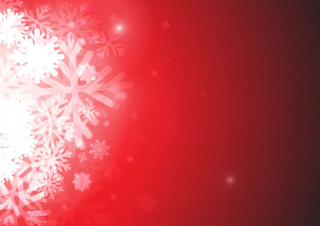 Vector : Ice crystal on red background Illustration