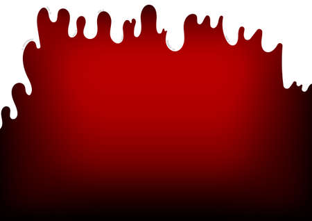 Vector : Melt ice on red background