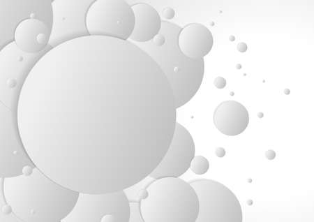 Vector : Abstract gray circles with shadow