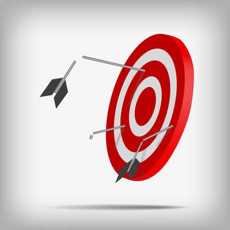 Vector : Broken arrow on archery target