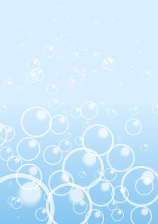 Vector : Abstract bubbles on blue background Illustration