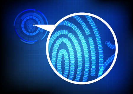 Finger print with binary code