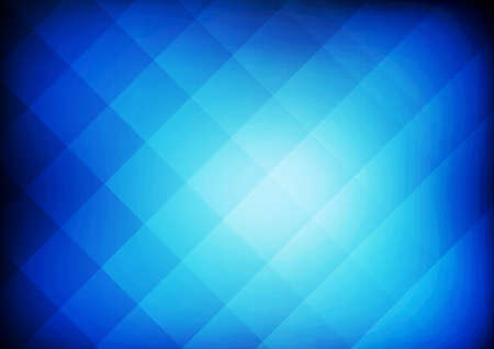 Vector : Abstract square on blue background