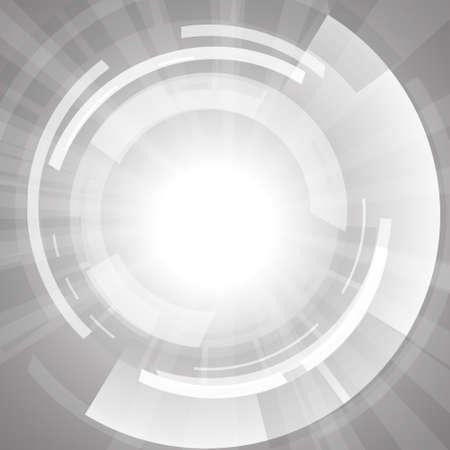 Vector: círculo blanco abstracto sobre fondo blanco Ilustración de vector