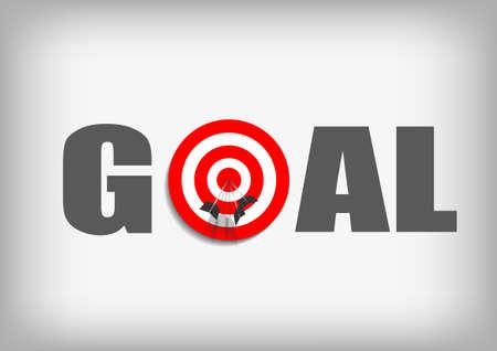 Vector : Arrows on archery goal target