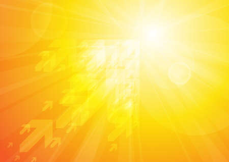 Vektor: Pfeile auf orangem Hintergrund