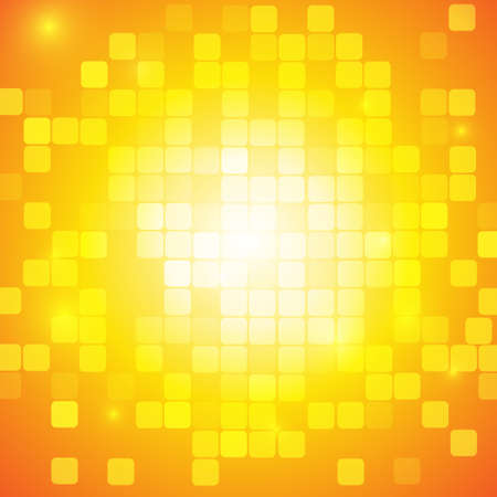 Vector : Abstract yellow square background