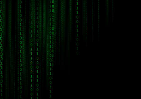 Vector : Binary number on black background