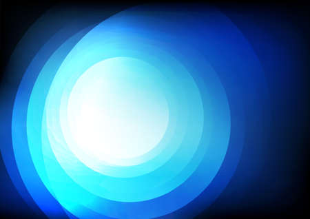 Vector : Abstract circles on blue background