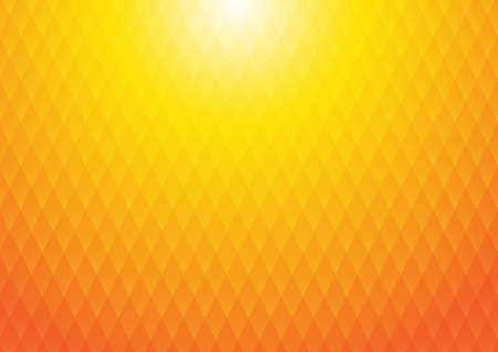 Vector : Abstract texture square on orange and yellow background