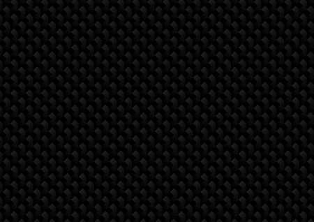 Vector : Abstract black metal texture on black background Ilustração Vetorial