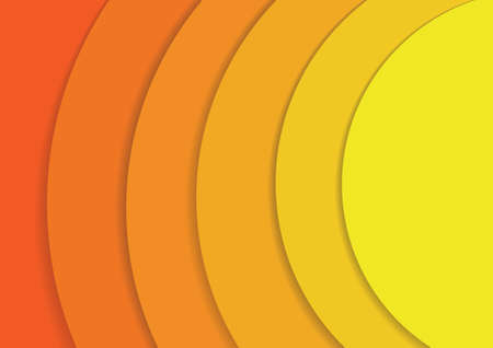 Vector : Abstract yellow and orange circles layer with shadow