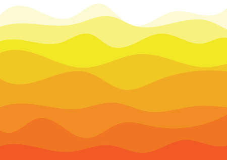 Vector : Abstract orange and yellow wave layer on white background Illustration