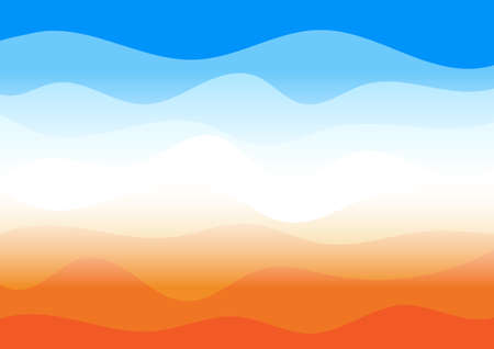 Vector : Abstract orange and blue wave layer on white background Illustration