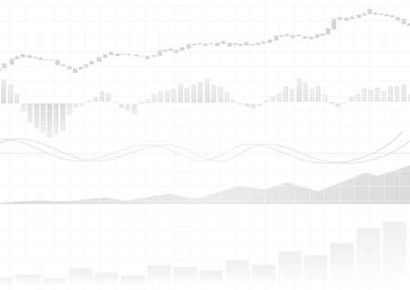 Vector : White business graphs on white background Illustration