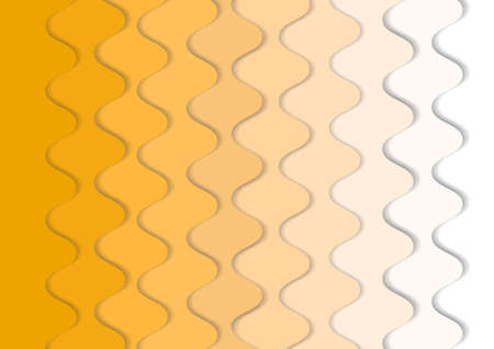 Vector : Abstract oranage and white waves layer background
