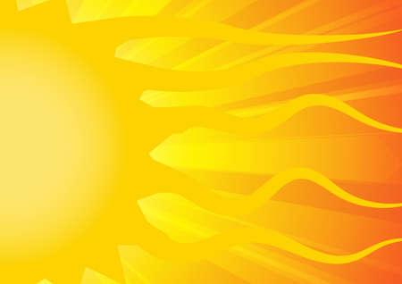 Vector : Sunshine on yellow and orange background