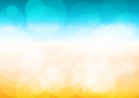 Vector : Abstract summer background with bokeh