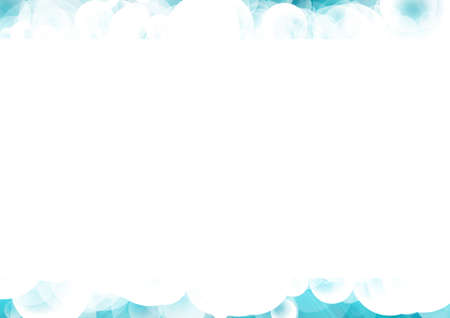 Vector : Bubble with blue sky background