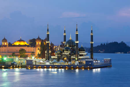 The Crystal Mosque or Masjid Kristal is a mosque in Kuala Terengganu, Terengganu, Malaysia. A grand structure made of steel, glass and crystal. The mosque is located at Islamic Heritage Park on the island of Wan Man. The mosque was constructed between 200