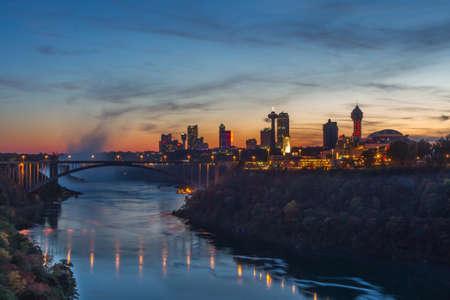 Rainbow bridge at Niagara Falls, USA Editorial