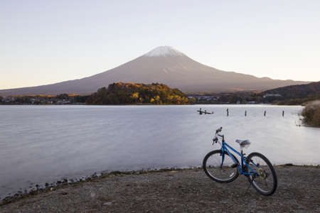 saiko: This photo was shot from the area around Mt.Fuji in Autumn. It is time to start snow cap on the top of Mt.Fuji. There are 5 lake around Mt.Fuji. Editorial