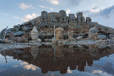 Nemrut is the high mountain in southeastern Turkey. There are a large statues on the top of the mountain.