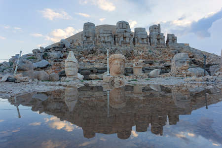 southeastern: Nemrut is the high mountain in southeastern Turkey. There are a large statues on the top of the mountain.